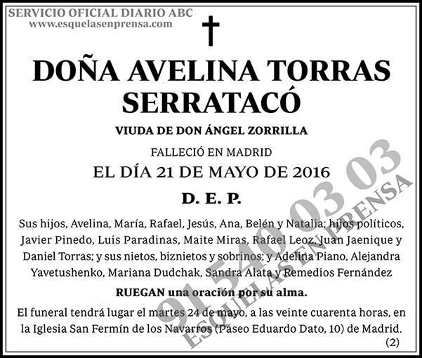 Avelina Torras Serratacó
